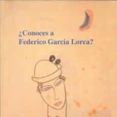 Libros de segunda mano: ¿CONOCES A FEDERICO GARCÍA LORCA ?HUERTO ALEGRE CUADERNO DIDÁCTICO AYUNTAMIENTO GRANADA 1998 DIBUJOS. Lote 40651780