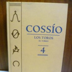 Libros de segunda mano: COSSIO. LOS TOROS. EL TOREO. VOL 4.. Lote 40747794