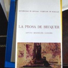 Libros de segunda mano: LA PROSA DE BÉCQUER.. Lote 40784384