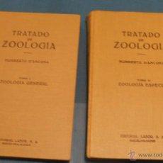 Libros de segunda mano: TRATADO DE ZOOLOGIA, 2 TOMOS, HUMBERTO D´ANCONA. Lote 40794874