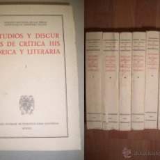 Libros de segunda mano: MENÉNDEZ PELAYO, MARCELINO. ESTUDIOS Y DISCURSOS DE CRÍTICA LITERARIA. Lote 40837306