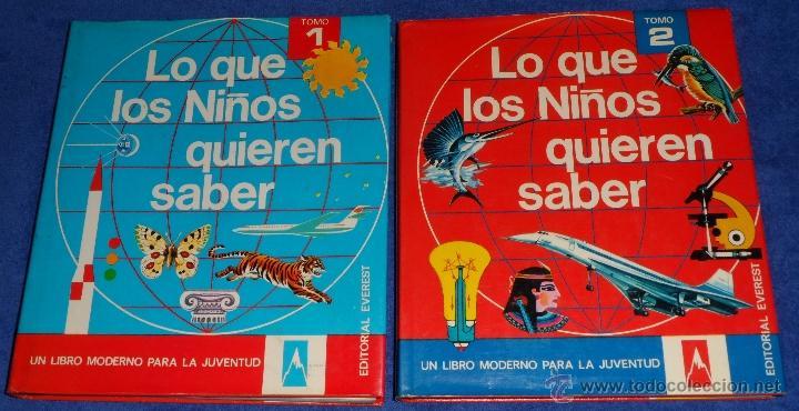 LO QUE LOS NIÑOS DEBEN SABER - EVEREST (1982) (Libros de Segunda Mano - Literatura Infantil y Juvenil - Otros)
