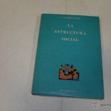 Libros de segunda mano: F.SANCHEZ LOPEZ, LA ESTRUCTURA SOCIAL, ED. GUADARRAMA. Lote 40907553