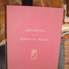 Libros de segunda mano: CARTOGRAFÍA DE LA REGIÓN DE MURCIA, AÑO 1989. Lote 40965643