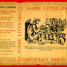 Libros de segunda mano: EL SOBRE LITERARIO CON SU CONTENIDO ORIGINAL , POESIA ,LITERATURA., S4. Lote 40971119