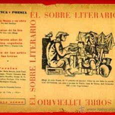 Libros de segunda mano: EL SOBRE LITERARIO CON SU CONTENIDO ORIGINAL , POESIA ,LITERATURA., S5. Lote 40971127