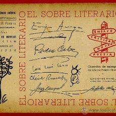 Libros de segunda mano: EL SOBRE LITERARIO CON SU CONTENIDO ORIGINAL , POESIA ,LITERATURA., S8. Lote 40971160