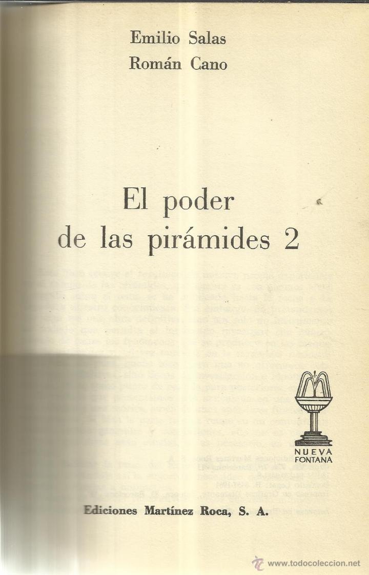 EL PODER DE LAS PIRÁMIDES 2. EMILIO SALAS. ROMÁN CANO. E. MARTÍNEZ ROCA. BARCELONA. 1978 (Libros de Segunda Mano - Parapsicología y Esoterismo - Otros)