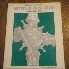 Libros de segunda mano: M. VILLALPANDO DICCIONARIO DE ARTISTAS Y ARTESANOS EN SEGOVIA S.XVI Y XVII. Lote 41141545
