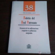 Libros de segunda mano: BOLETIN DEL REAL PATRONATO 38 . Lote 41281517