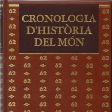 Libros de segunda mano: CRONOLOGIA D'HISTÒRIA DEL MÓN. Lote 41360988