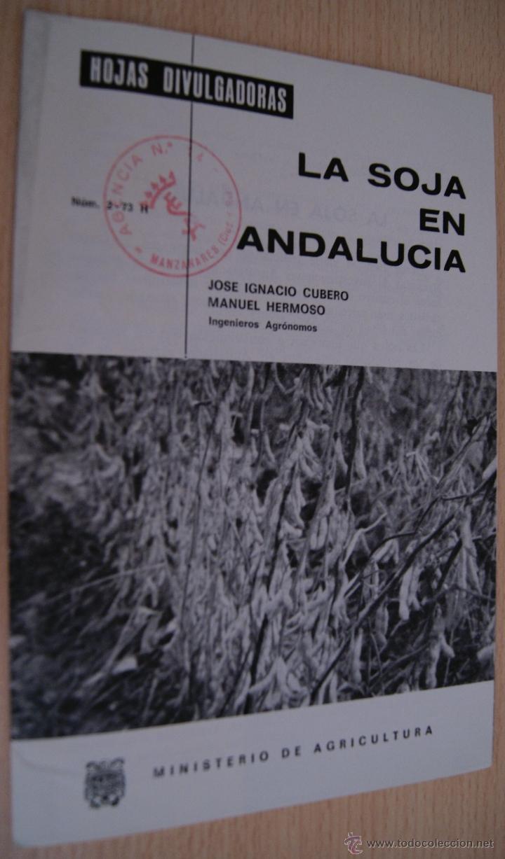 LA SOJA EN ANDALUCIA - HOJAS DIVULGADORAS DE 1974 (Libros de Segunda Mano - Ciencias, Manuales y Oficios - Otros)