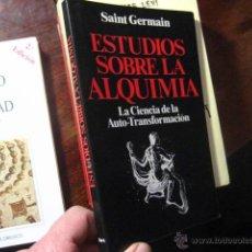 Livros em segunda mão: ESTUDIOS SOBRE LA ALQUIMIA, SAINT GERMAIN. AURA ED CIENCA AUTOTRANSFORMACION PARACIENCIA A5. Lote 41518012