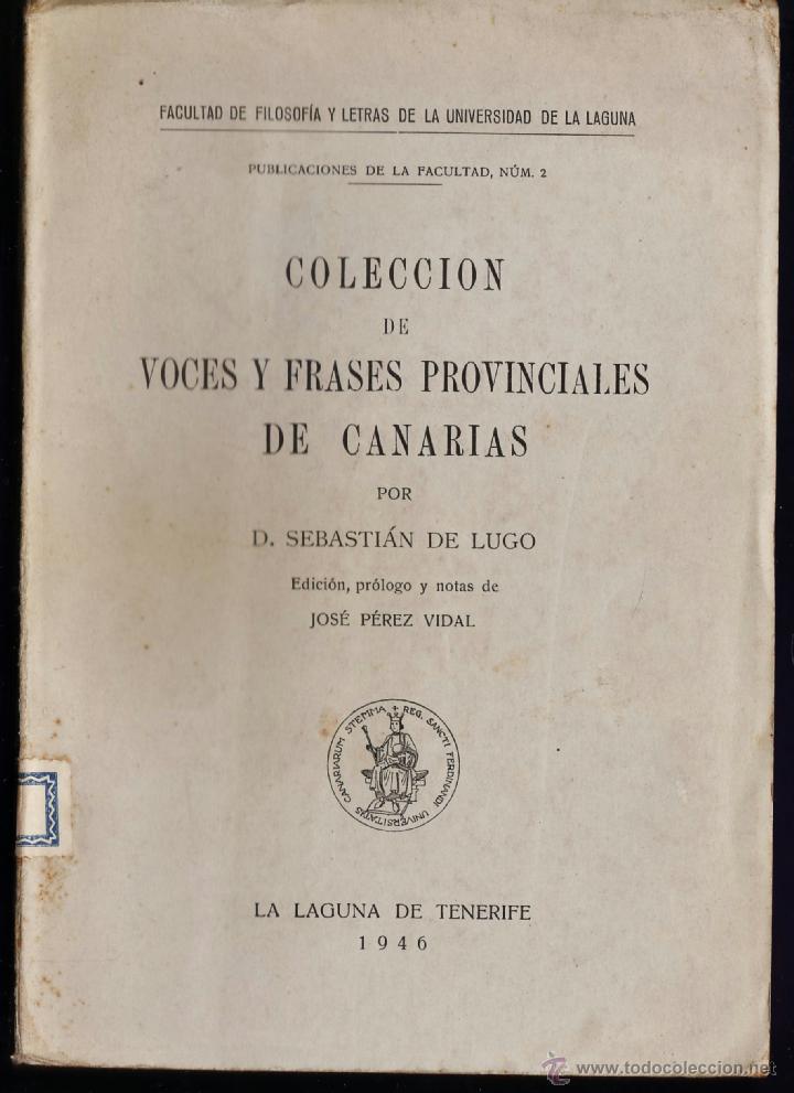 Resultado de imagen de Colección de voces y frases provinciales de Canarias