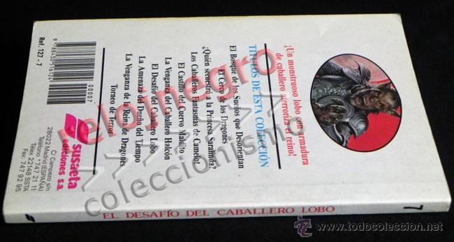 Libros de segunda mano: EL DESAFÍO DEL CABALLERO LOBO MAGOS Y GUERREROS TÚ ERES PROTA TIPO ELIGE PROPIA AVENTURA LIBRO JUEGO - Foto 2 - 41721441