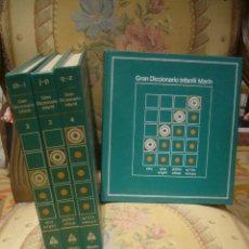 Libros de segunda mano: GRAN DICCIONARIO INFANTIL MARIN. 4 TOMOS. COMPLETO.. Lote 41790882
