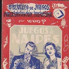 Libros de segunda mano - BIBLIOTECA DE JUEGOS PRESTIDIGITACION ILUSIONISMO VOLUMEN IX EDITORIAL SINTES - 42268924