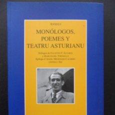 Libros de segunda mano: MONOLOGOS, POEMES Y TEATRU ASTURIANU. ANXELU. PROLOGO DE FAUSTINO F. ALVAREZ Y MARCOS DEL TORNIELLO.. Lote 42311644