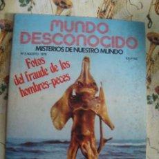 Libros de segunda mano: MUNDO DESCONOCIDO Nº 3 - 1976- VLAD TEPES DRACULA - HOMBRES PECES - RESUCITADOS - SIN USAR DE KIOSKO. Lote 42335060