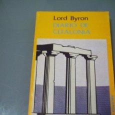 Livros em segunda mão: DIARIO DE CEFALONIA - LORD BYRON.. Lote 42375398