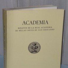 Libros de segunda mano: ACADEMIA. BOLETÍN DE LA REAL ACADEMÍA DE BELLAS ARTES DE SAN FERNANDO..Nº 73. 1991.. Lote 42514997