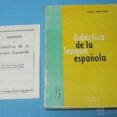 Libros de segunda mano: LUISA YRAVEDRA DIDACTICA DE LA LENGUA ESPAÑOLA BADAJOZ EDITORIAL OCHOA. Lote 42624682
