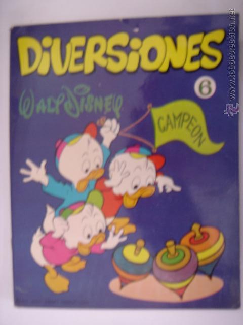 . DIVERSIONES WALT DISNEY CAMPEON 6 1972 WALT DISNEY PRODUCTIONS (Libros de Segunda Mano - Literatura Infantil y Juvenil - Otros)