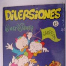 Libros de segunda mano: . DIVERSIONES WALT DISNEY CAMPEON 6 1972 WALT DISNEY PRODUCTIONS. Lote 42653850