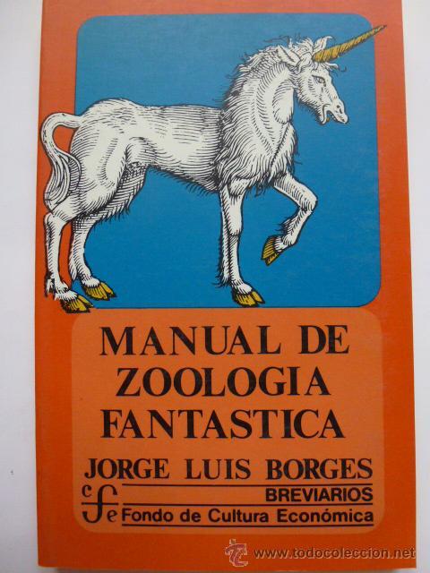 Libro manual de zoologia fantastica s/ 8,00 en mercado libre.