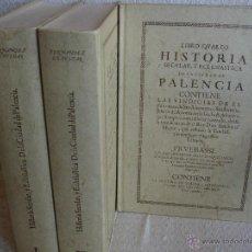 Libros de segunda mano: HISTORIA SECULAR, Y ECLESIÁSTICA DE LA CIUDAD DE PALENCIA. Lote 42707848