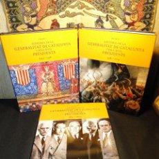 Libros de segunda mano: HISTÒRIA DE LA GENERALITAT DE CATALUNYA I DELS SEUS PRESIDENTS (3 TOM. OBRA COMPL.)SOLÉ I SABATÉ, JO. Lote 42742751