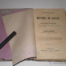 Libros de segunda mano: LIBRO, COMPENDIO DE LA HISTORIA DE ESPAÑA, MADRID, 1869. Lote 42783938