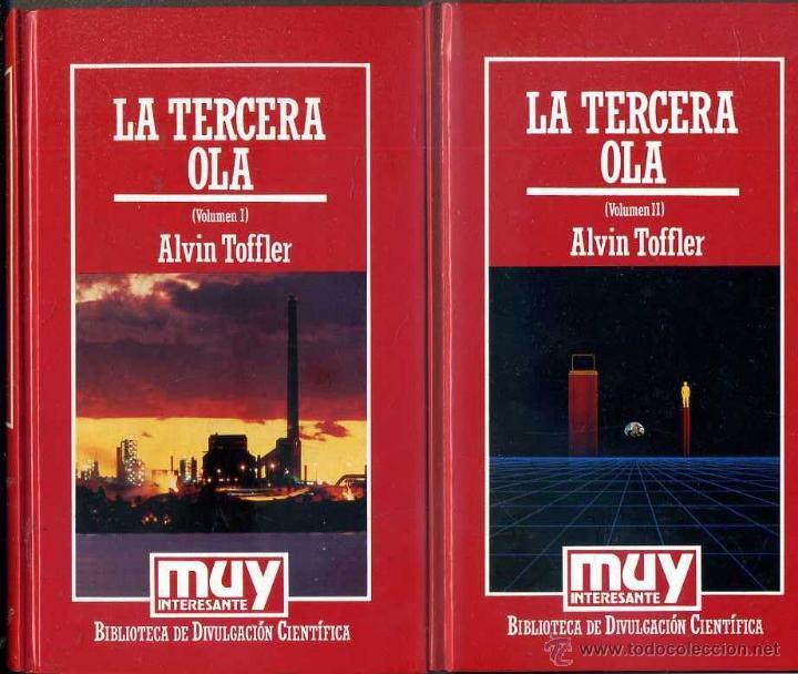 ALVIN TOFFLER : LA TERCERA OLA (MUY INTERESANTE, 1986) DOS TOMOS (Libros de Segunda Mano - Ciencias, Manuales y Oficios - Otros)