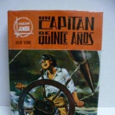 Libros de segunda mano: UN CAPITÁN DE QUINCE AÑOS-1972-COLECCIÓN JUNIOR [HARDCOVER] [1972] JULIO VERNE. Lote 42916542