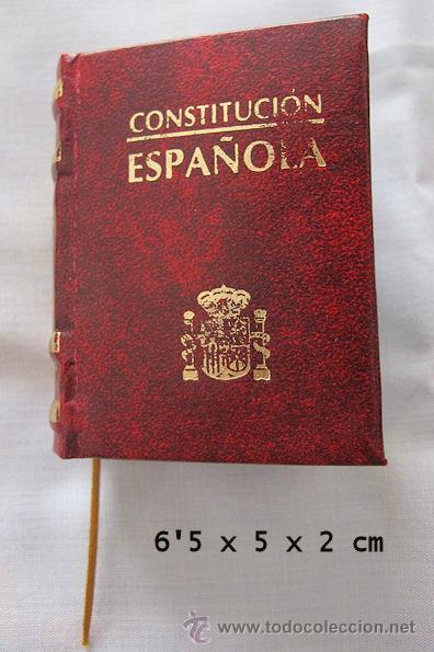 Mini libro constitucion espa ola comprar en todocoleccion 42957662 - Libreria segunda mano online ...
