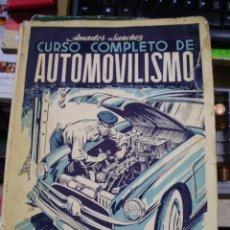 Libros de segunda mano: CURSO COMPLETO DE AUTOMOBILISMO. TOMO I. MOTORES (MADRID, 1956). Lote 43034903