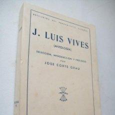 Libros de segunda mano: BREVIARIOS DEL PENSAMIENTO ESPAÑOL-J. LUIS VIVES ( ANTOLOGÍA) EDC: FÉ- MCMXLIII-. Lote 43054333