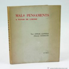 Libros de segunda mano: MALS PENSAMENTS A FAVOR DE L'HOME, DIBUIXOS: SUBIRACHS. AYMÀ ED. DEDICADO. 15X18 CM.. Lote 43068289