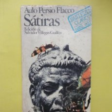 Libros de segunda mano: PERSIO FLACCO. SÁTIRAS. Lote 43087670