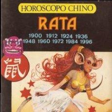 Libros de segunda mano: HOROSCOPO CHINO: RATA LI-YAU, A.. Lote 43163593