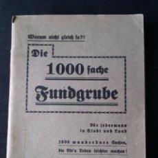 Libros de segunda mano: LIBRO LIBRILLO O CUADERNO 64 PAGINAS DE ALEMANIA 1940 - LAS 1000 SUGERENCIAS Y CONSEJOS - DIFICIL. Lote 43244404