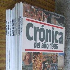 Libros de segunda mano: 10 LIBROS --- CRÓNICAS DEL AÑO - 1986 AL 1995 . Lote 43370831