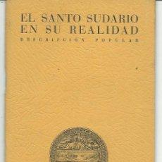 Libros de segunda mano: EL SANTO SUDARIO EN SU REALIDAD .-BIBLIOTECA SINDONIANA 1950. Lote 43432516