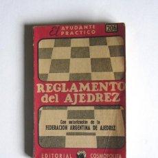 Libros de segunda mano: REGLAMENTO DE AJEDREZ - EDITORIAL COSMOPOLITA. ARGENTINA. 1956. Lote 43446854