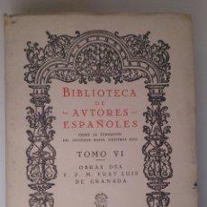 Libros de segunda mano: OBRAS DEL V.P.M FRAY LUIS DE GRANADA (TOMO I). ATLAS. 1944. Lote 43493866