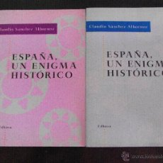 Libros de segunda mano: ESPAÑA. UN ENIGMA HISTÓRICO. CLAUDIO SÁNCHEZ ALBORNOZ.(4 VOLS). Lote 43499080