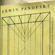 Libros de segunda mano: PANOFSKY : LA PERSPECTIVA COMO FORMA SIMBÓLICA (TUSQUETS, 1973). Lote 65687810