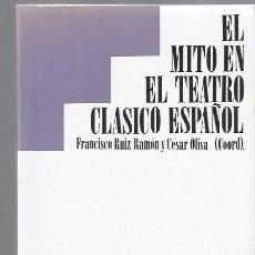 Libros de segunda mano: EL MITO EN EL TEATRO CLÁSICO ESPAÑOL, PONENCIAS Y DEBATES, TAURUS MADRID 1988. Lote 43749675