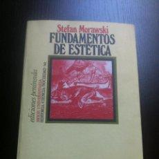 Libros de segunda mano: FUNDAMENTOS DE ESTETICA - STEFAN MORAWSKI - EDICIONES PENINSULA - BARCELONA - 1977 -. Lote 43775285