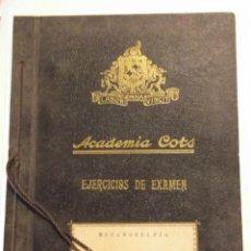 Libros de segunda mano: INTERESANTE LIBRO DE MECANOGRAFIA BARCELONA AÑOS 50 ACADEMIA COTS EJERCICIOS DE EXAMEN. Lote 43776684